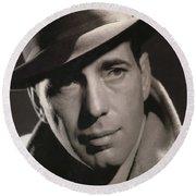 Humphrey Bogart George Hurrell Photo #1 1939 Round Beach Towel