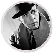 Humphrey Bogart Round Beach Towel