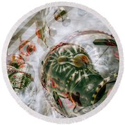 Round Beach Towel featuring the photograph Hung Up And Strung Out by Wayne Sherriff