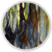 Hunted Forest Round Beach Towel