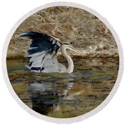 Hunting For Fish 5 - Digitalart Round Beach Towel