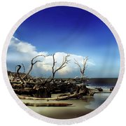 Hunting Island Round Beach Towel