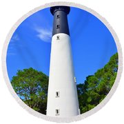 Hunting Island Lighthouse Beaufort Sc Round Beach Towel