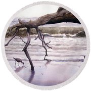 Hunting Island Sculpture Round Beach Towel