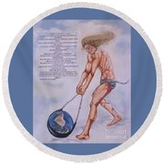 Hurling Earth Into Orbit Round Beach Towel