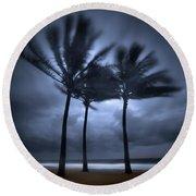 Hurricane Matthew Round Beach Towel
