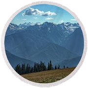 Hurricane Ridge Round Beach Towel