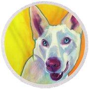 Husky - Charlie Round Beach Towel