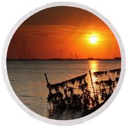 Husum Sunset Round Beach Towel