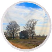 Hwy 8 Old House 2 Round Beach Towel