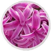 Hyacinth Pink Pearl Round Beach Towel