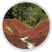Hyalite Canyon Sculpture Round Beach Towel