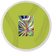 Hybridization Round Beach Towel