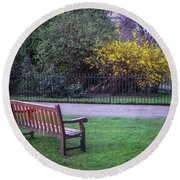 Hyde Park Bench - London Round Beach Towel