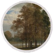 Hyde Park Round Beach Towel by John Martin