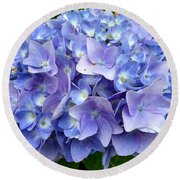 Round Beach Towel featuring the photograph Hydrangea Heaven by Beth Saffer