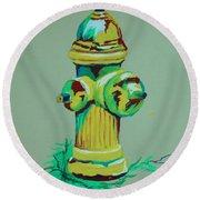 Hydrant Round Beach Towel