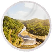 Hydropower Valley River Round Beach Towel