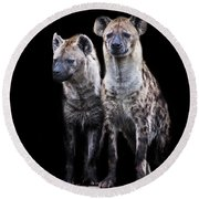 Hyena Lookout Round Beach Towel