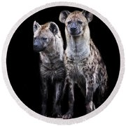 Hyena Lookout Round Beach Towel