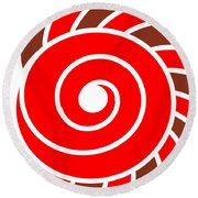 Hypnotic Circle Round Beach Towel