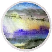 Hypnotic Dream Round Beach Towel by R Kyllo