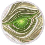 Round Beach Towel featuring the digital art Hypnotic Eye by Anastasiya Malakhova