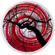 Round Beach Towel featuring the photograph Hypnotic Nature by Shawna Rowe