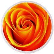 Hypnotic Orange Round Beach Towel