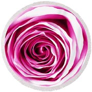 Hypnotic Pink Round Beach Towel