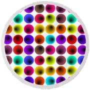 Hypnotized Optical Illusion Round Beach Towel