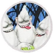 Hysterically Funny Round Beach Towel