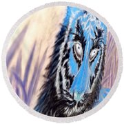 Round Beach Towel featuring the digital art I A M  2 by Antonia Citrino