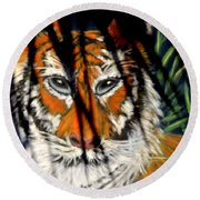Round Beach Towel featuring the photograph I A M  4 by Antonia Citrino