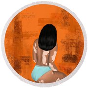 Round Beach Towel featuring the digital art I Am Enough by Bria Elyce