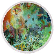 I Am The Forest Path Round Beach Towel