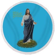 I Am The Way John 14 6 Round Beach Towel