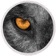I Am Wolf Round Beach Towel