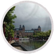 I Amsterdam Round Beach Towel by Therese Alcorn