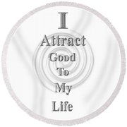 I Attract Silver Round Beach Towel