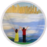 I Believe Round Beach Towel