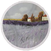 I Campi Di Lavanda Round Beach Towel by Guido Borelli
