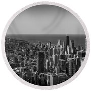 Round Beach Towel featuring the photograph I Can See For Miles And Miles by Howard Salmon