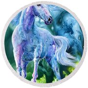 I Dream Of Unicorns Round Beach Towel