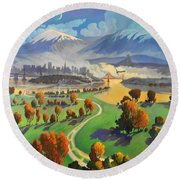 I Dreamed America Round Beach Towel by Art James West