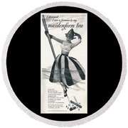 I Dreamed I Was A Fireman In My Maidenform Bra Round Beach Towel