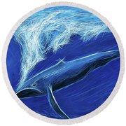 I Fight For Clean Waters Round Beach Towel