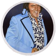 I Got, You Know, This Golden Belt And... Round Beach Towel