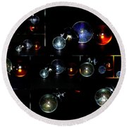 ...i Have Lost My Marbles Round Beach Towel by Martina Fagan