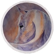 I Hear You - Painting Round Beach Towel